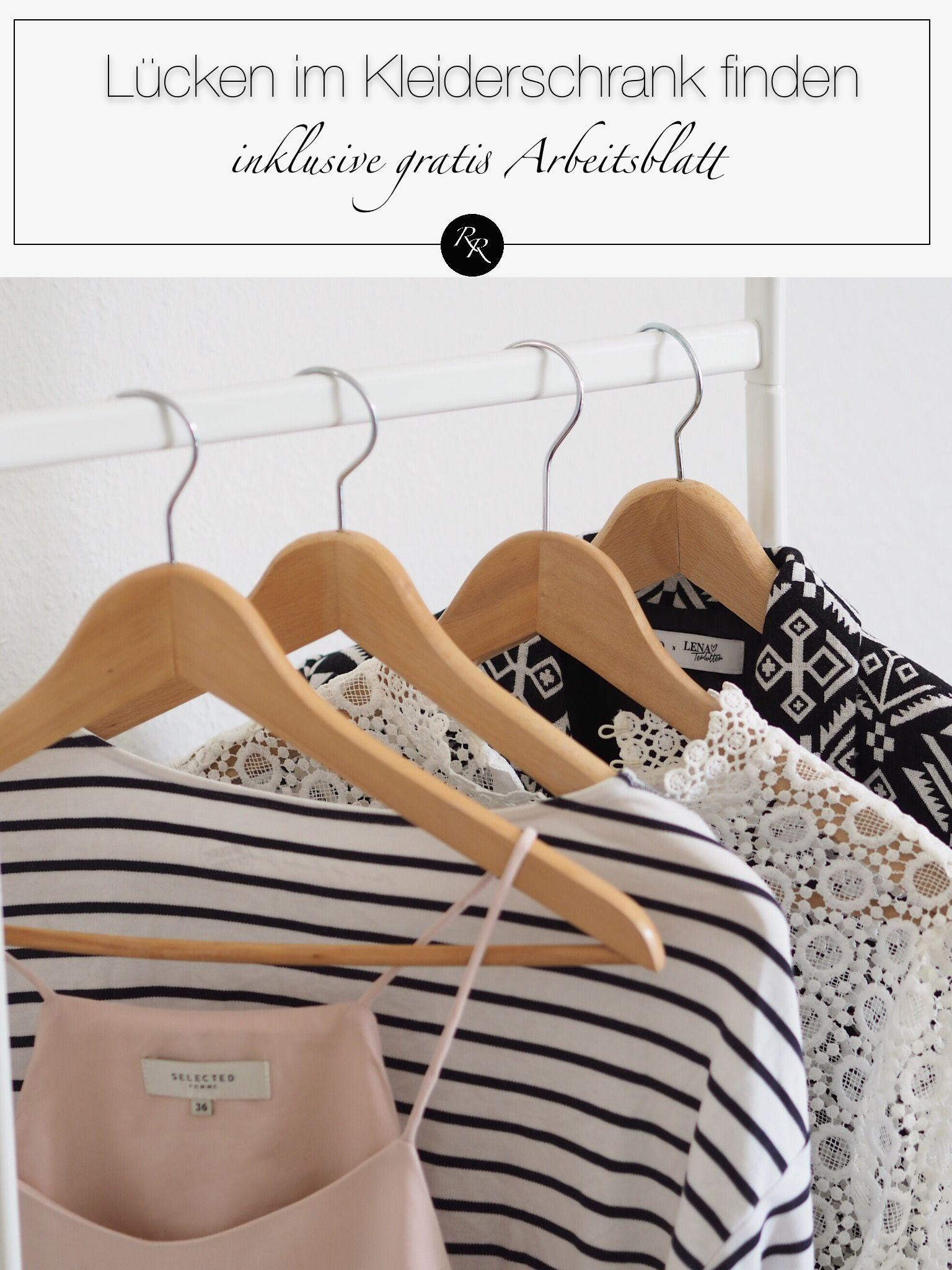 L cken im kleiderschrank erkennen wie du deine garderobe for Minimalistischer kleiderschrank