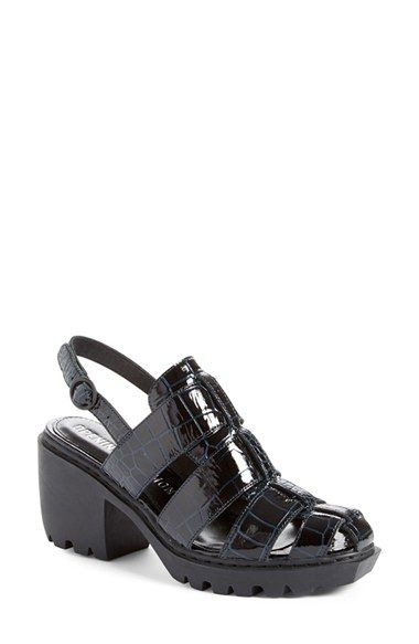 f7aba9889804 Free shipping and returns on Opening Ceremony Croc Embossed Fisherman Sandal  (Women) at Nordstrom.com. Croc-embossed leather in a midnight blue hue  defines ...