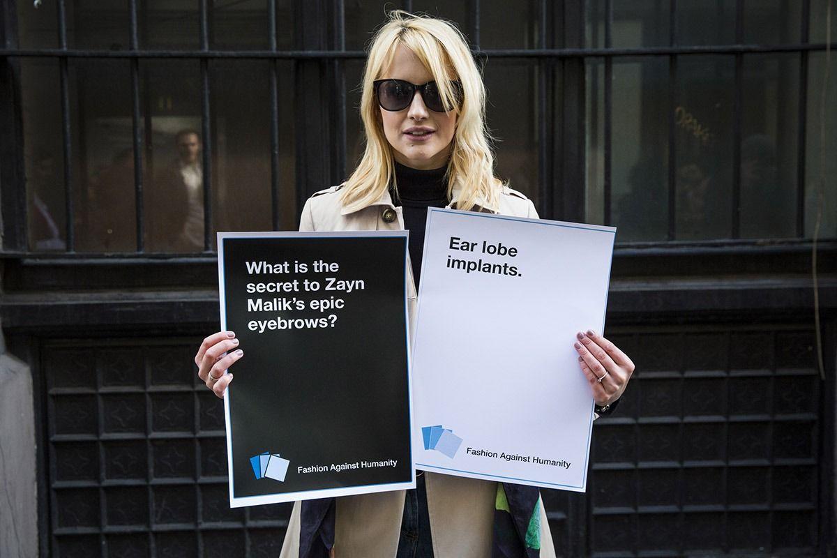 Mashable - coco mama style - london fashion week - cards against humanity