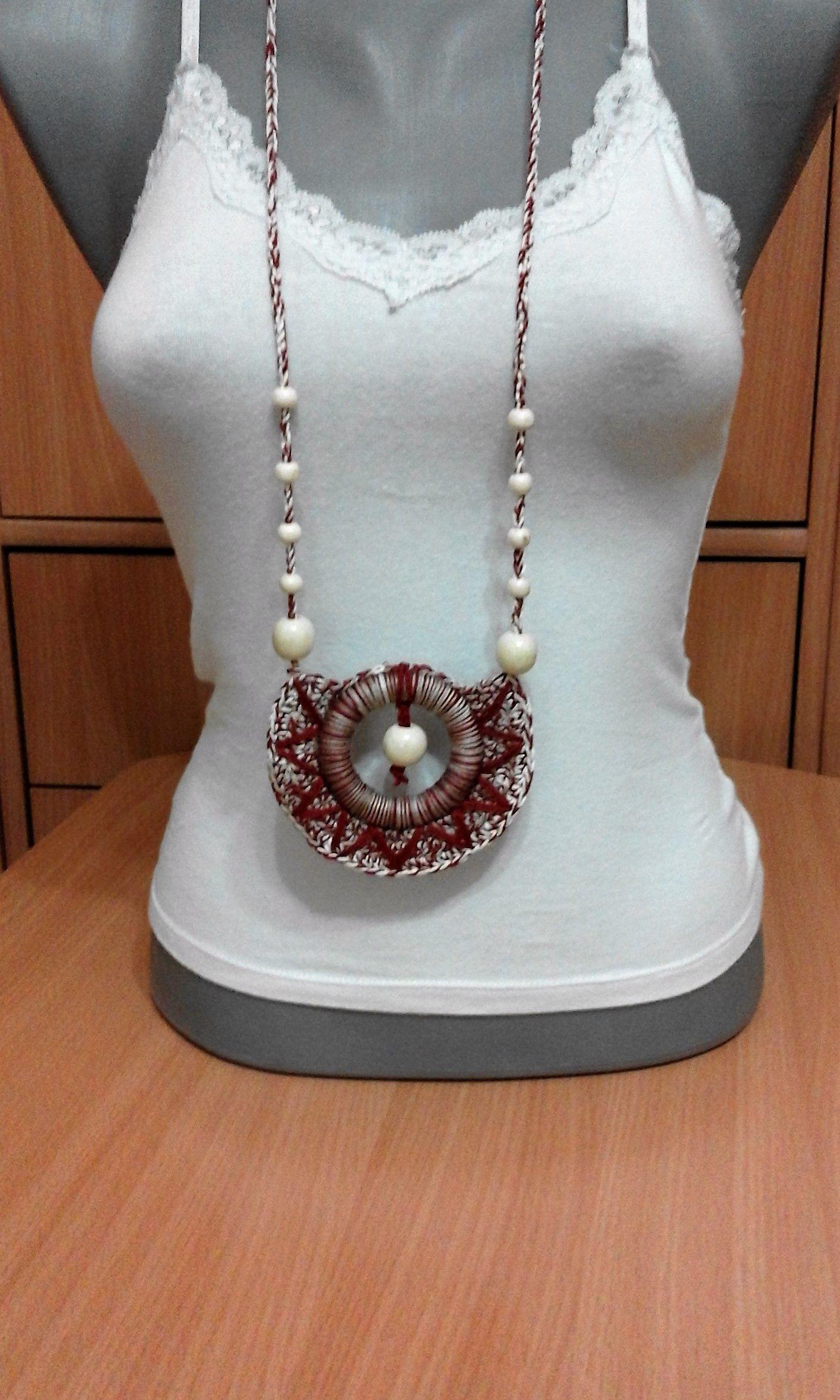 Crochet Necklace made by Lidija Farago | My Work | Pinterest