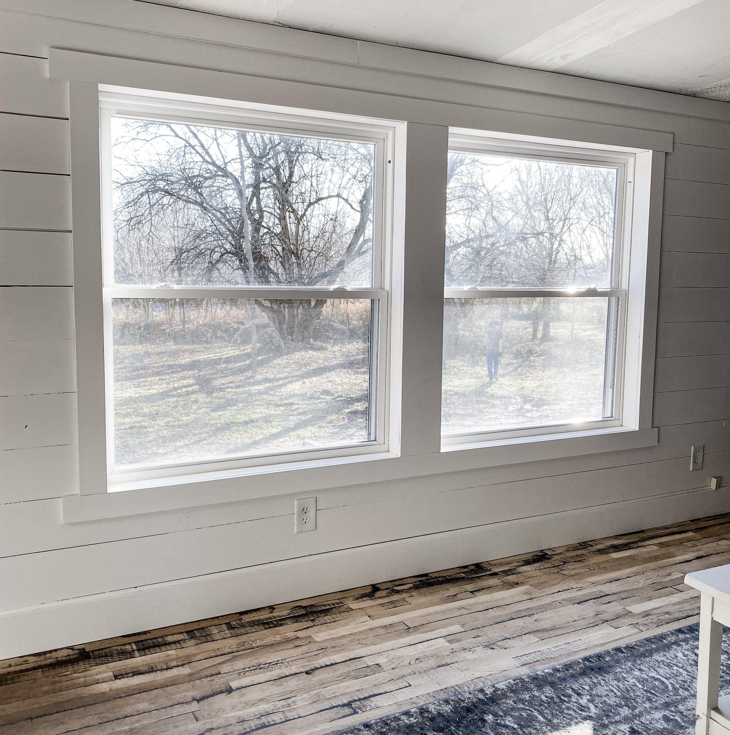 Simple Farmhouse Style Window Trim Window trim, Diy