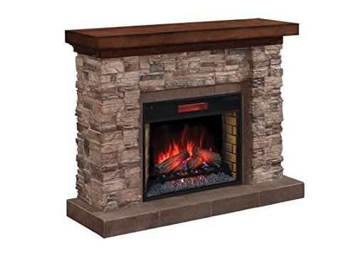 ClassicFlame Grand Canyon Stone Electric Fireplace Mantel