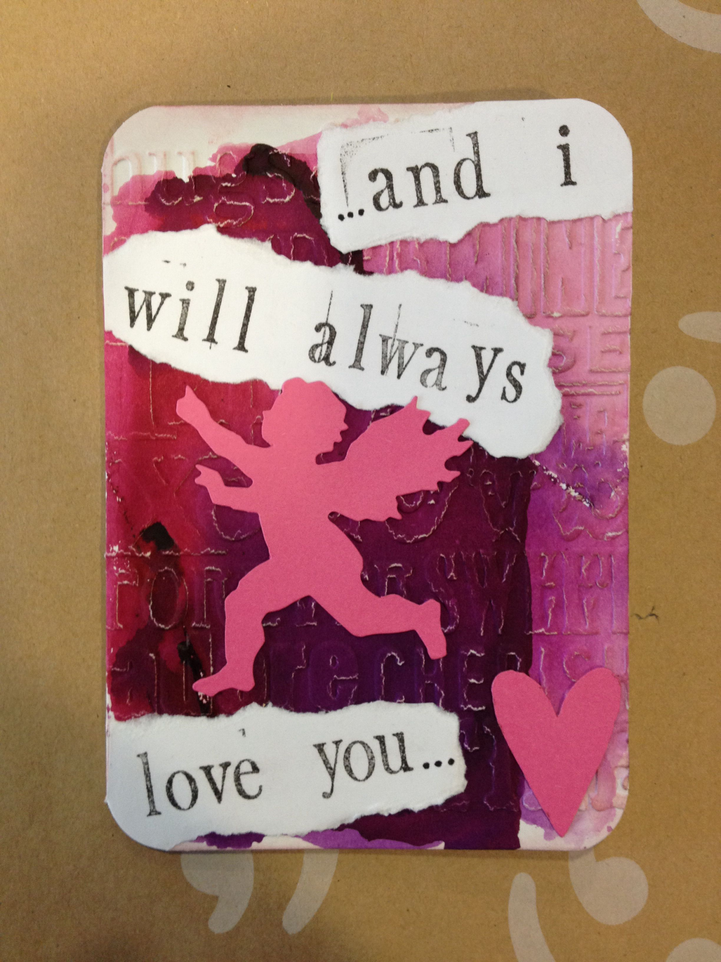 valentine's card with song's lyrics  valentines cards