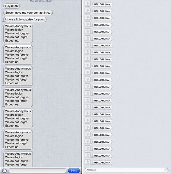 A Flood Of Prank Imessage Texts Shows The App Can Be Crashed Easily Texts Give It To Me Imessage