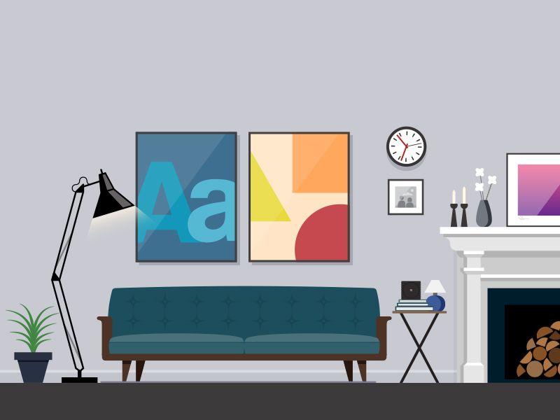 Living Room Illustration Interior Illustration Illustration Artwork Architecture Illustration