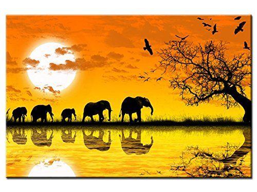 Tableau design Eléphants d\'Afrique - TOP VENTE Hexoa https://www ...