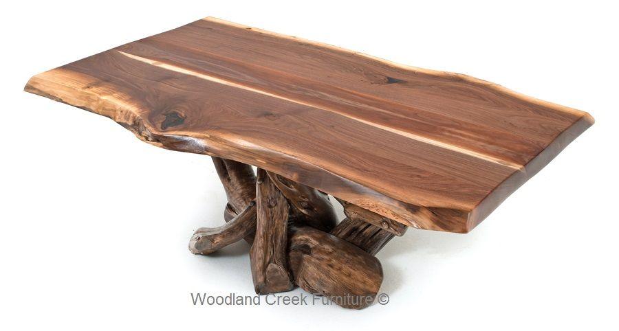 Rustic Black Walnut Coffee Table Log Cabin Coffee Table
