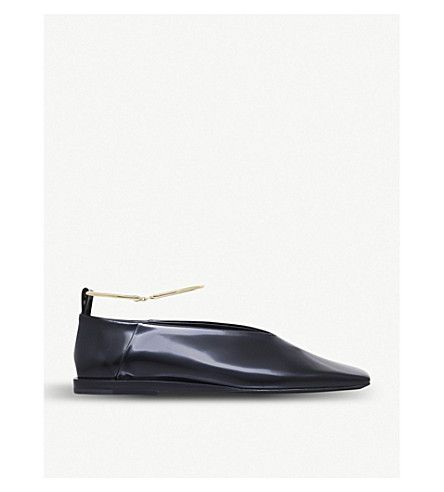 Jil Sander Patent Leather Flats Free Shipping Buy RMdniFYt