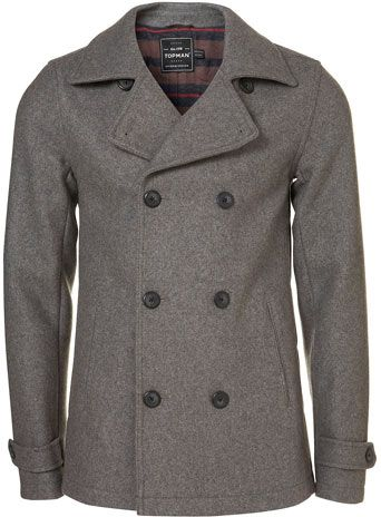 TOPMAN Grey Wool Skinny Fit Peacoat $170 #christmas #wishlist ...