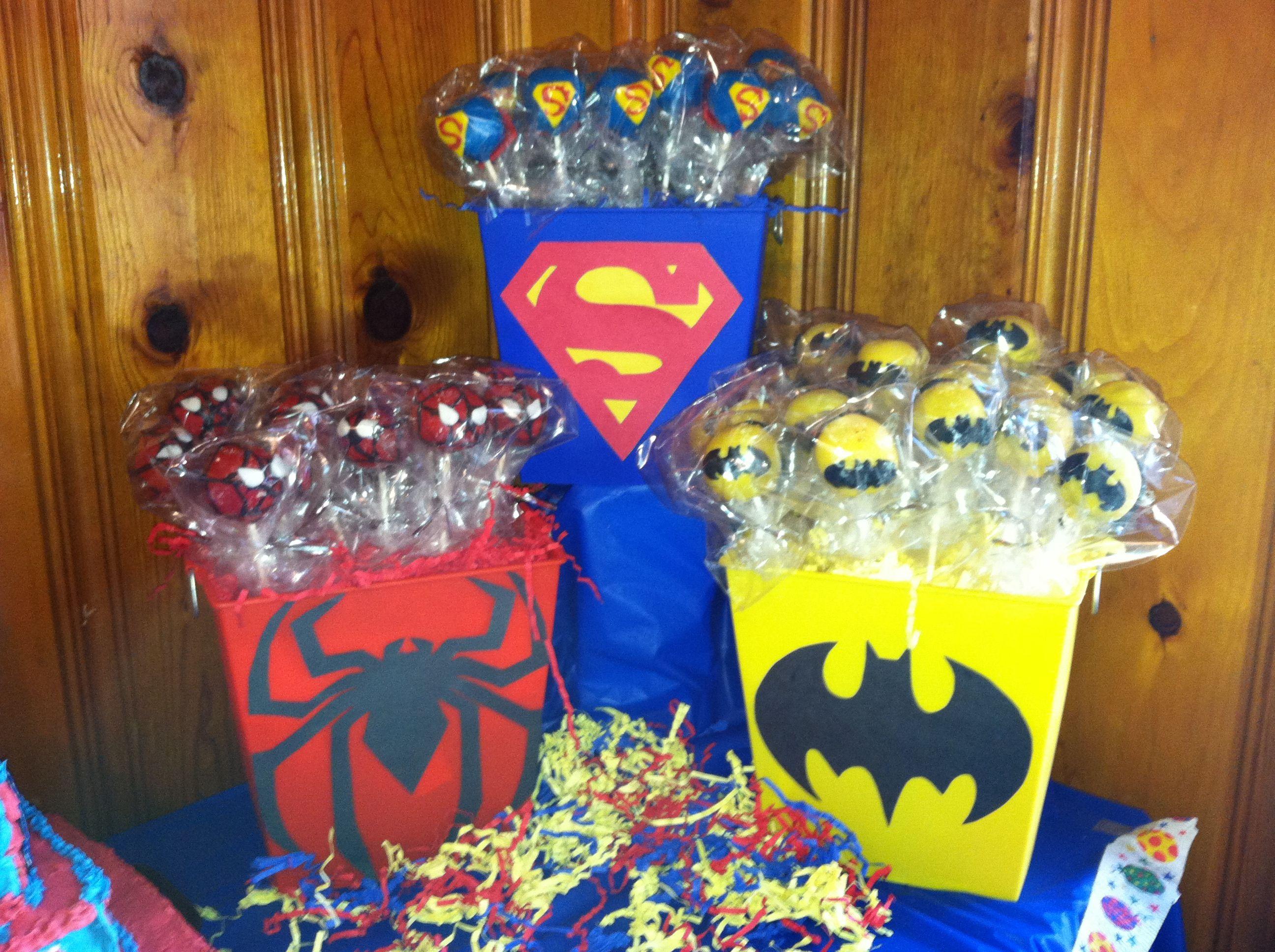 Cake Pops Superhero Spiderman Batman Amp Superman