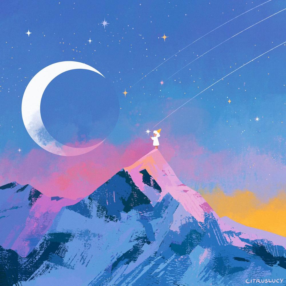Lucy Zhang On Twitter Anime Scenery Wallpaper Falling Stars Star Illustration