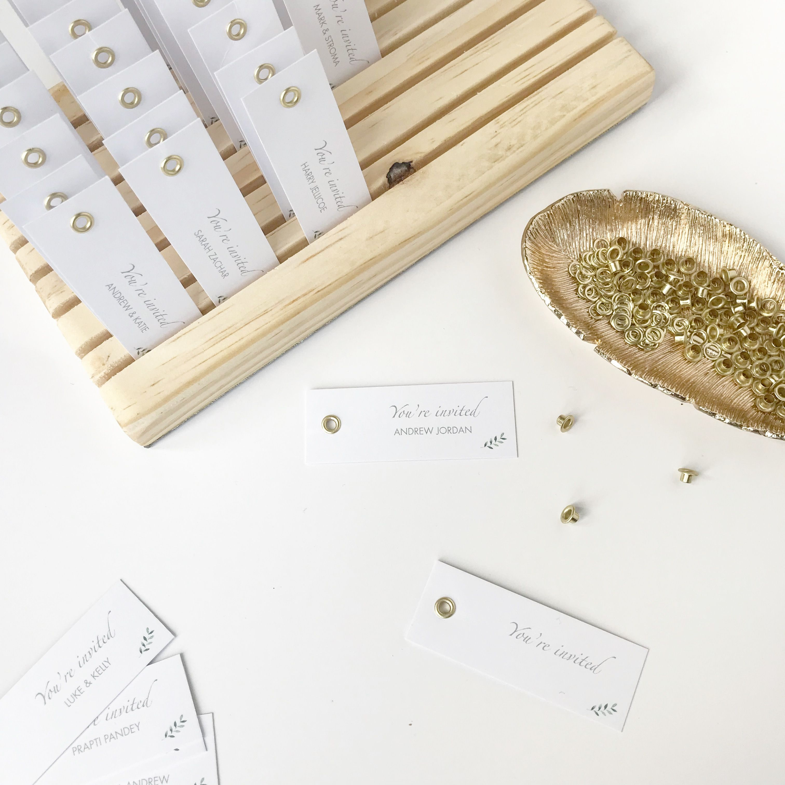 Pretty details - personalised guest name tags for some luxury Laurel ...