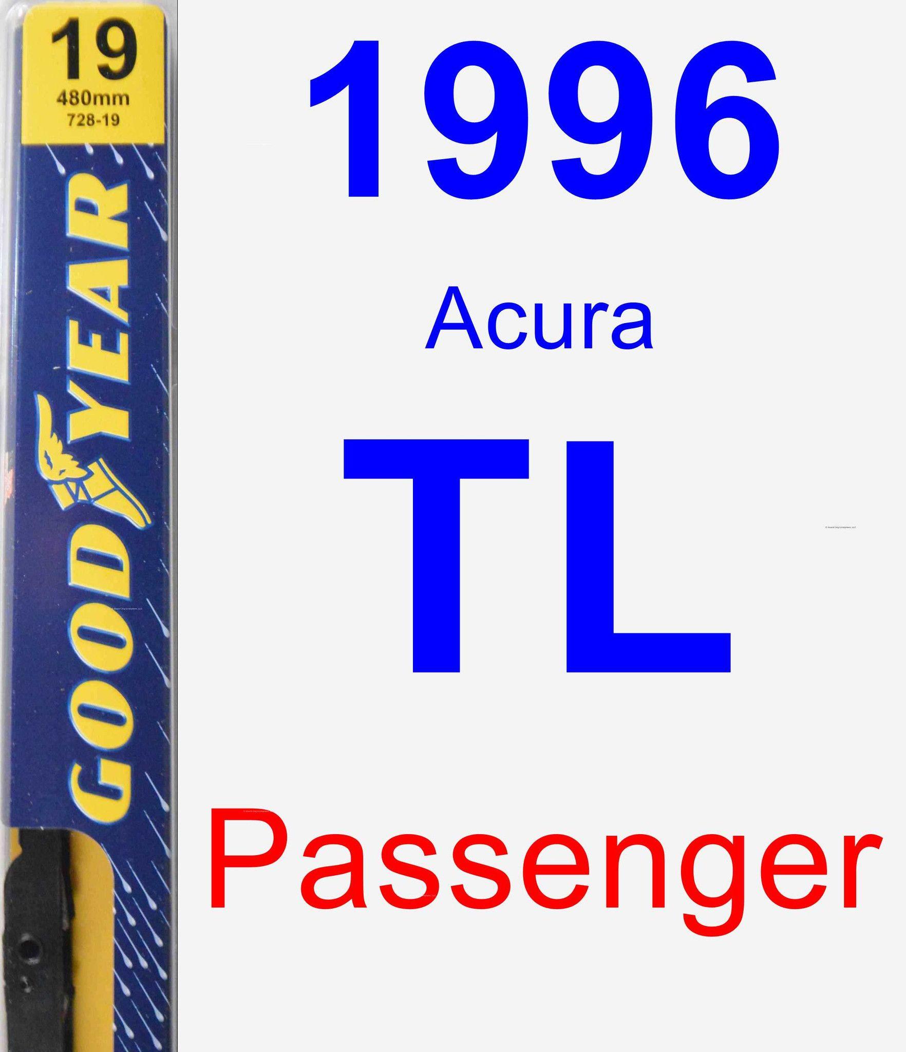 Passenger Wiper Blade For 1996 Acura TL - Premium