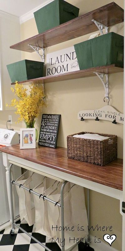DIY Charming Laundry Room Makeover