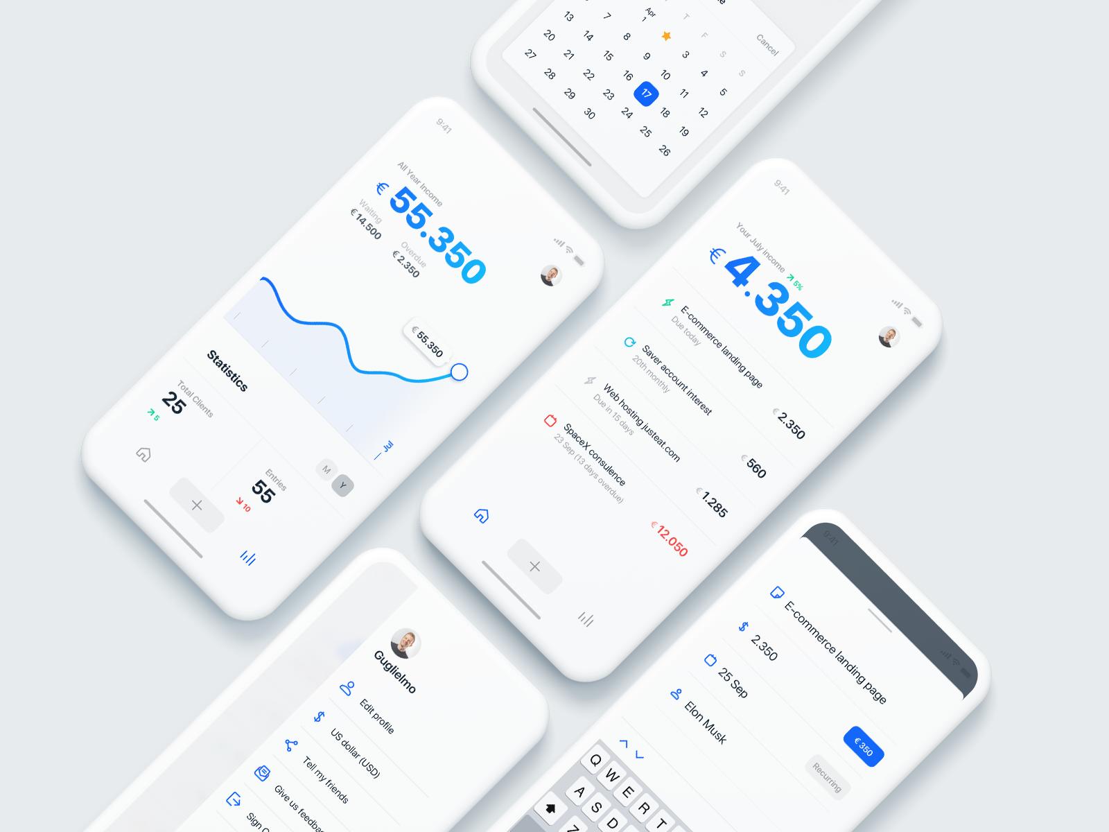 Simple Mockup Free Scene App Design Human Centered Design Finance Tracker