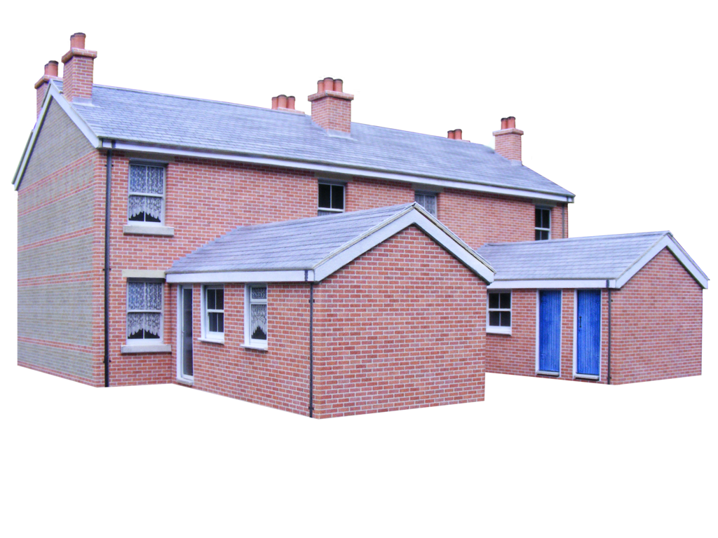 It is a picture of Current Free Printable Model Railway Buildings
