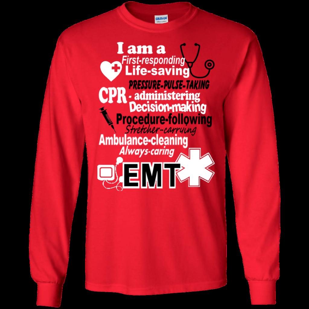92f663b95 EMT Poems sayings LS Tshirt   ems   Sayings, T shirt, Sweatshirts