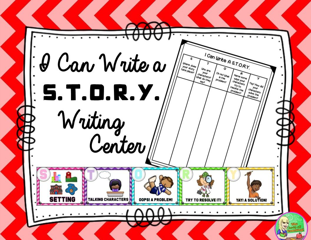 I Can Write A S T O R Y Anchor Charts Desk Tags Paper Writing Paper Template Writing Center Anchor Charts [ 816 x 1056 Pixel ]