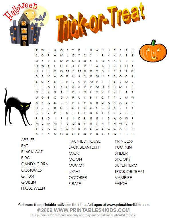 Halloween Word Search Halloween Words Halloween Word Search Halloween School