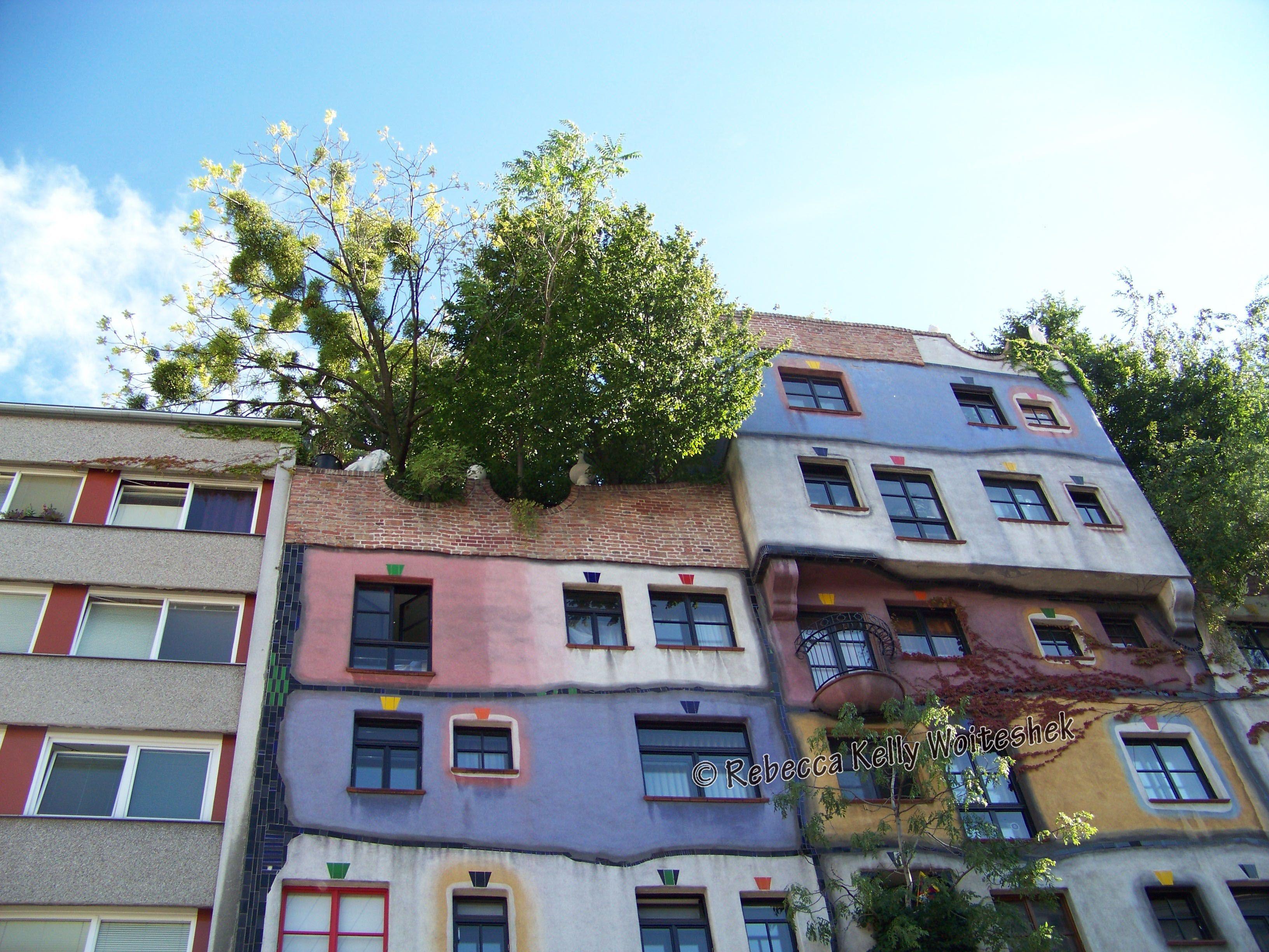 Hundertwasser House In Vienna Austria Designed By Artist