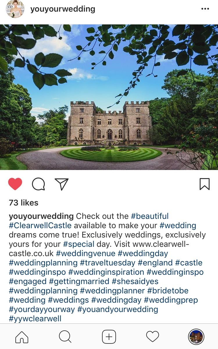 Excited to see our beautiful Clearwell Castle feature on