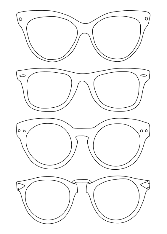Sun Glasses Coloring Page Fresh Sunglasses Template Use For Back To School Night For Coloring Pages Art Lessons Kids Art Projects