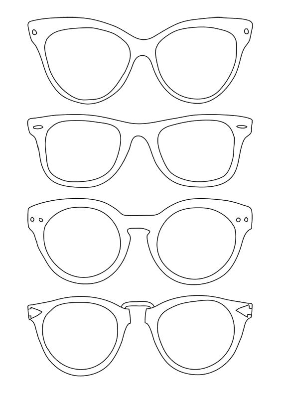Sun Glasses Coloring Page Fresh Sunglasses Template Use