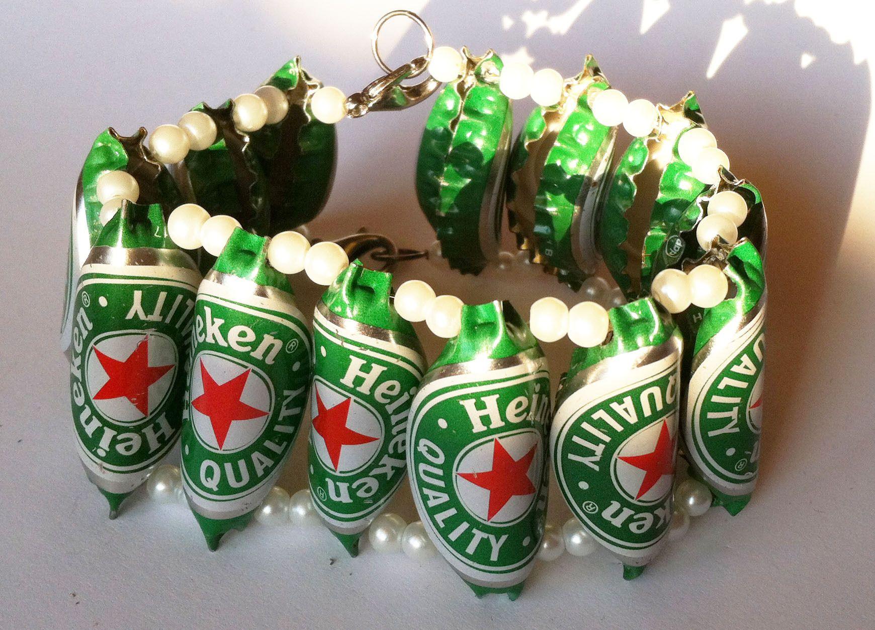 Bijoux bouteille plastique fashion designs - Capsule de biere deco ...