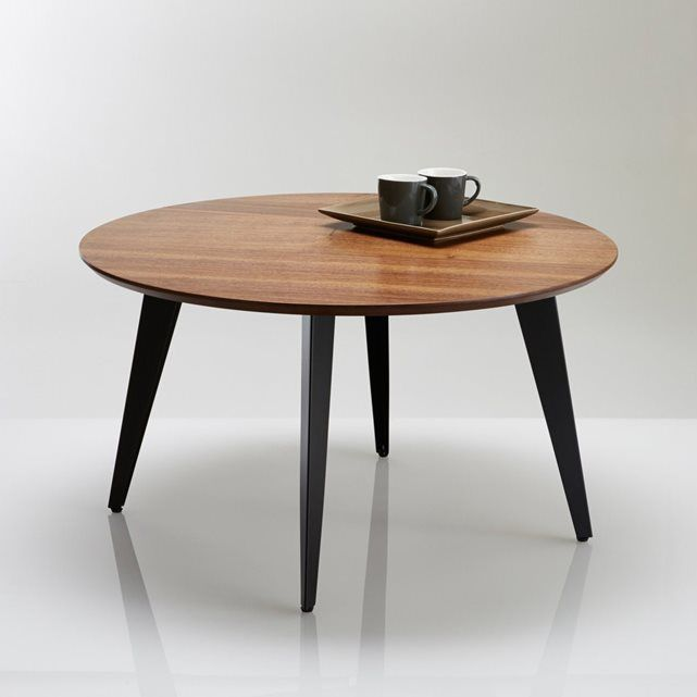 La table basse plaqu e noyer inspiration 50 39 s watford sa for Table basse scandinave noyer