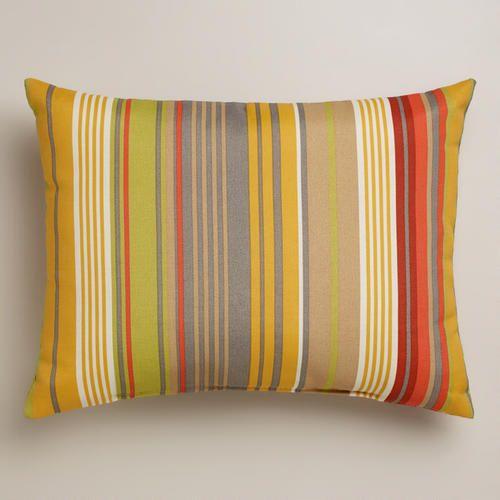 Waterfront Life Stripe Outdoor Lumbar Pillow 19 99