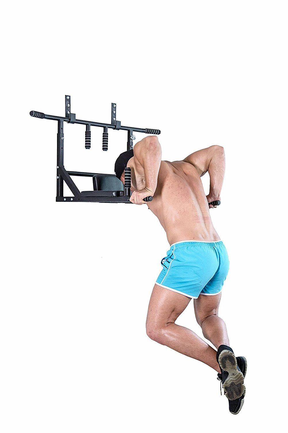 Best Portable Wall Mounted Pull Up Bar Chin Up Bar With Dip Bars