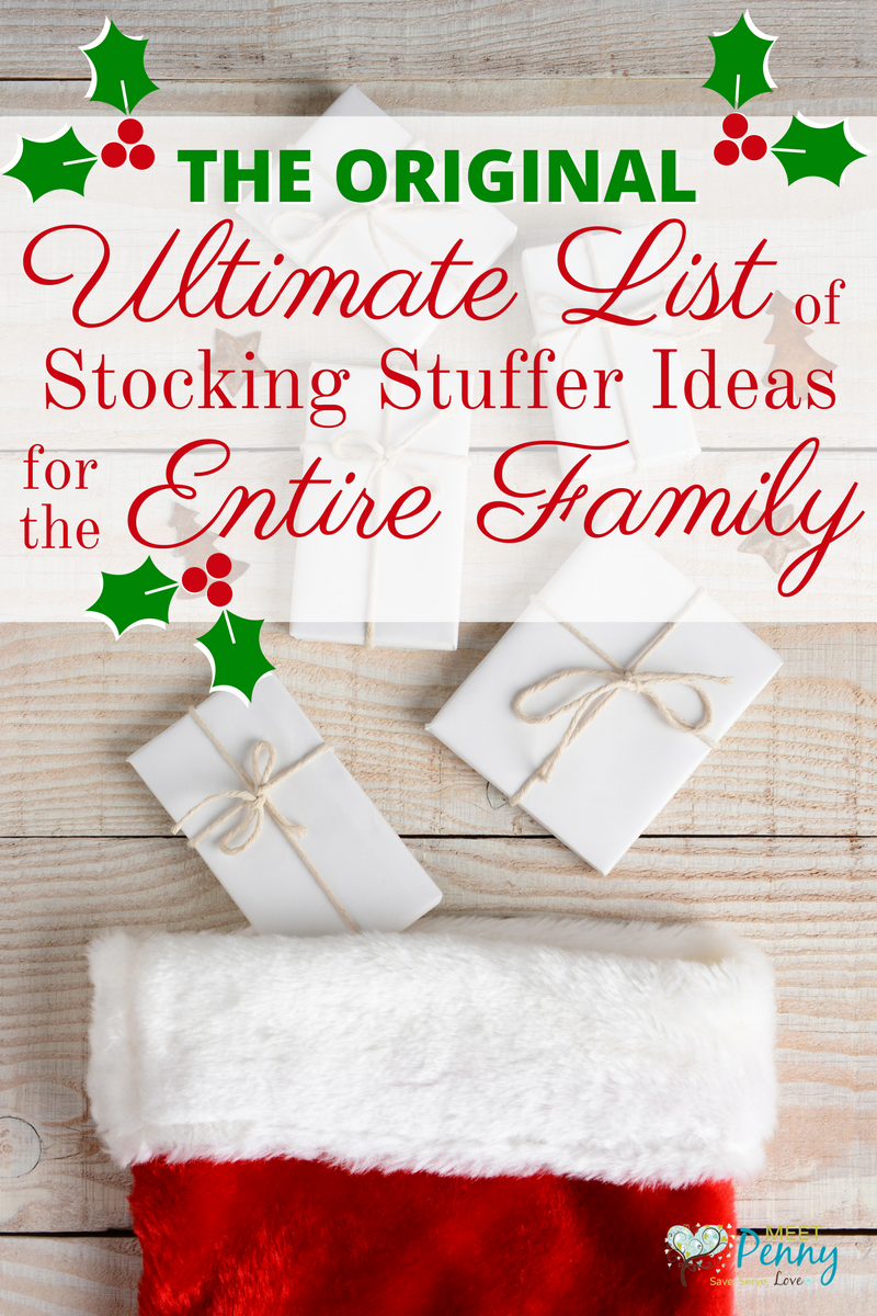Ultimate List of Stocking Stuffer Ideas for the Whole Family (600+ ...