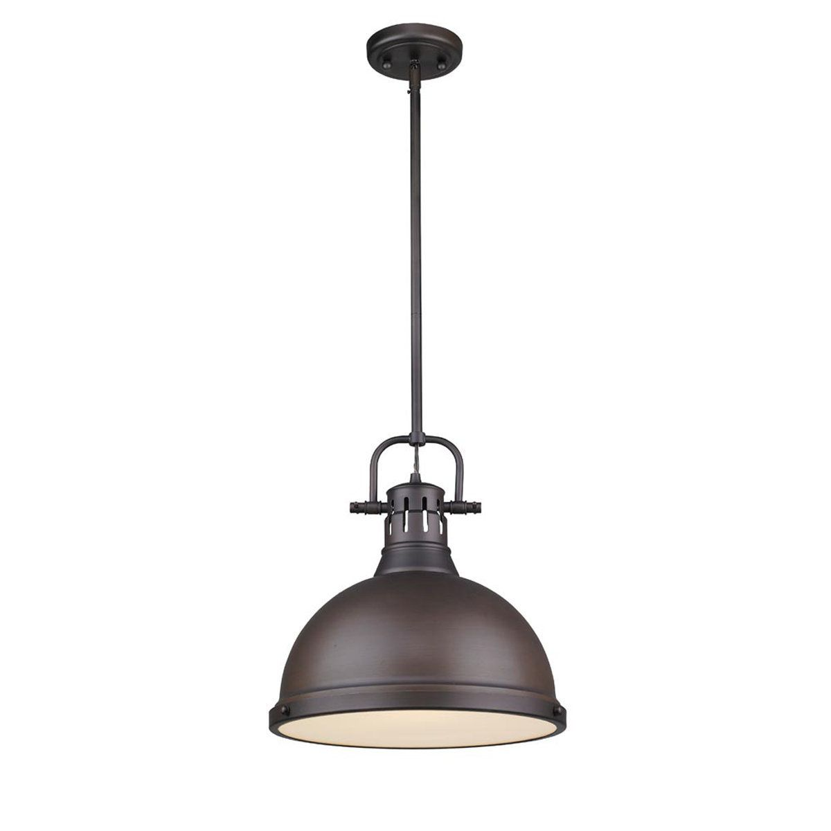 Classic dome large shade pendant light with rod pendant lighting