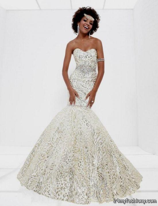 gold and white mermaid prom dress 2016-2017 » B2B Fashion | Dress ...