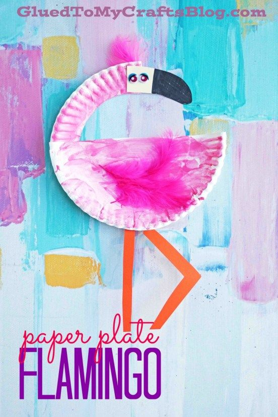 Paper Plate Fpalamingo - Kid Craft  sc 1 st  Pinterest & Paper Plate Flamingo - Kid Craft | Flamingo Craft and Tutorials