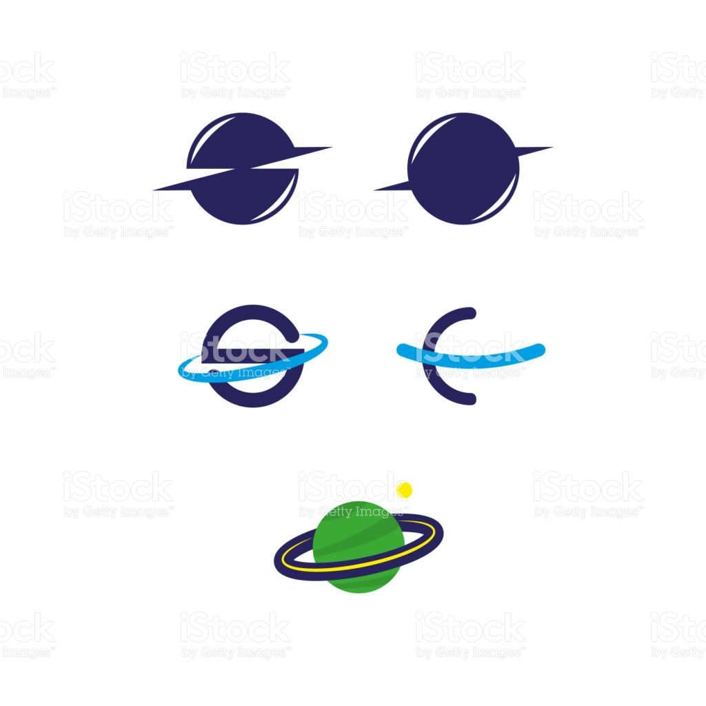 A Set Of Saturn Icons