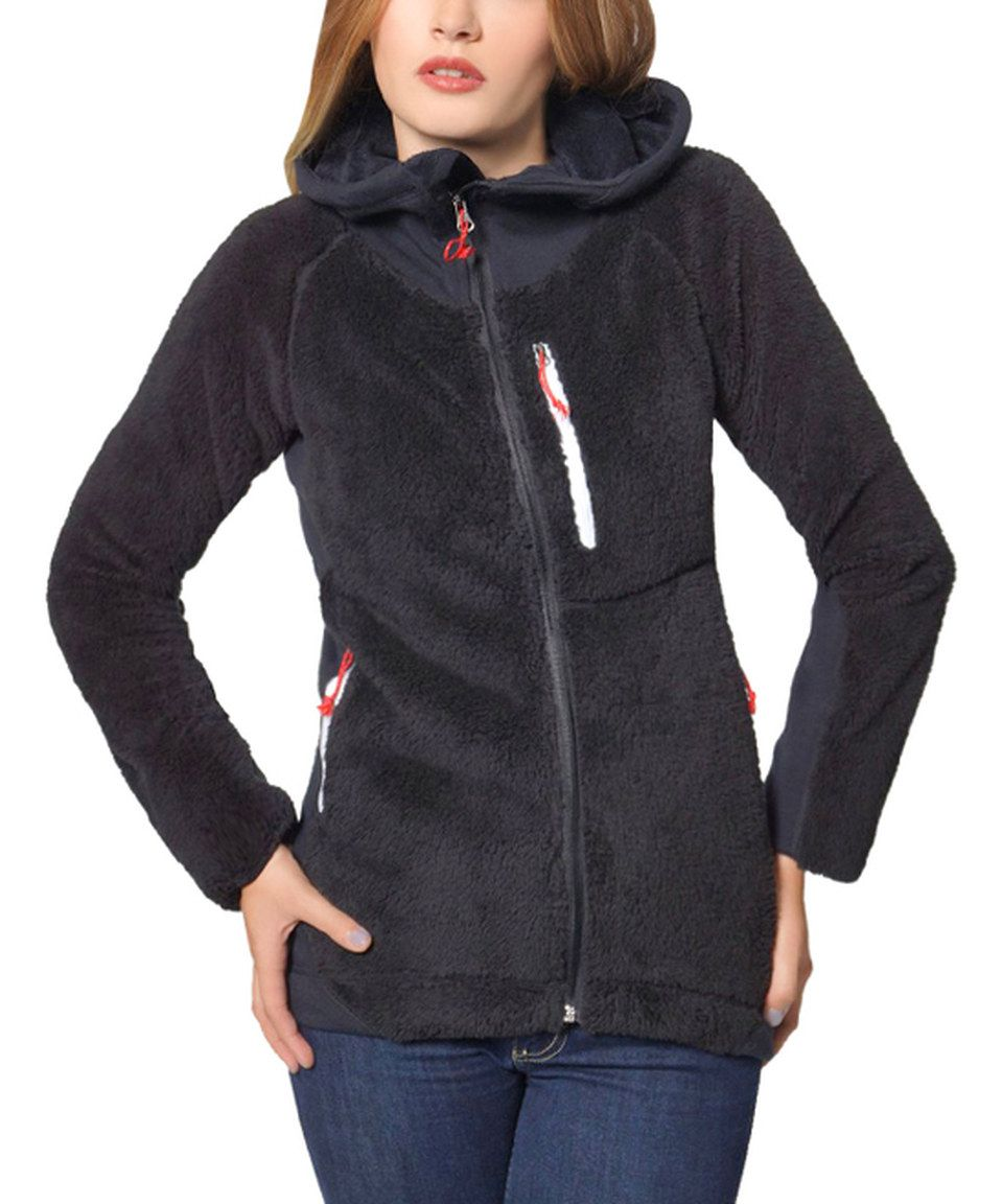 e6fe1e158bc Love this Black Fuzzy Zip-Up Hoodie by So Nice Collection on  zulily!   zulilyfinds. I want! Only   39.99
