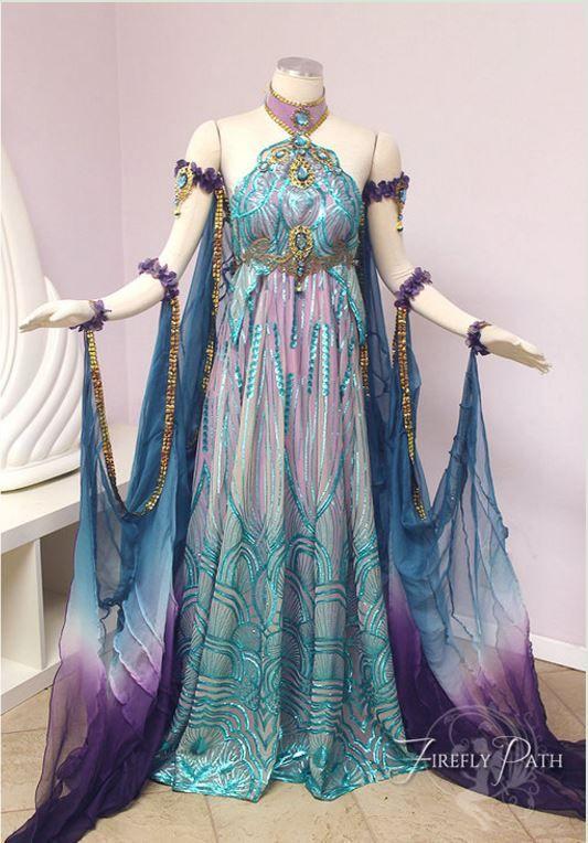 Art Nouveau Fantasy Gown In 2019 Fantasy Gowns Fantasy