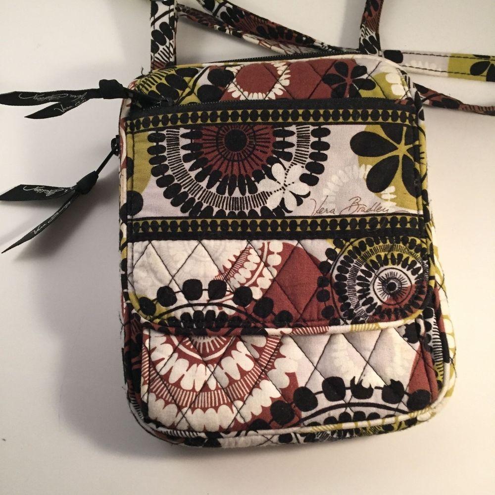 Vera Bradley Mini Hipster Cocoa Moss Pattern Crossbody Bag Brown ...