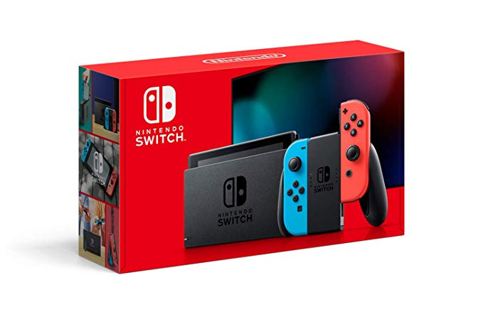 Amazon Com Nintendo Switch With Neon Blue And Neon Red Joy Con Hac 001 01 Electronics Nintendo Switch Nintendo Switch System Console System