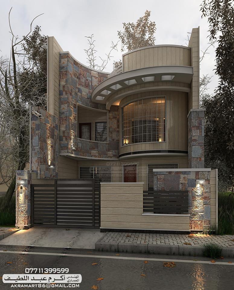 المهندس المعماري اكرم عبد اللطيف -تصميم واجهات معمارية