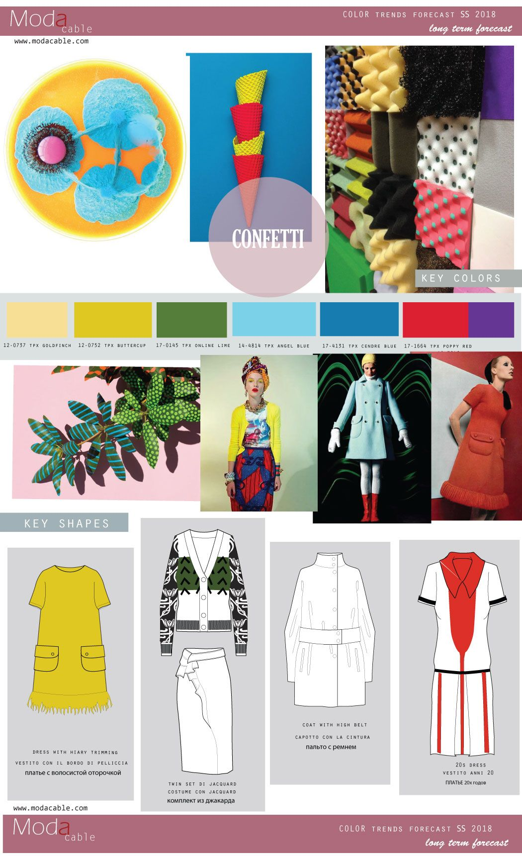 Ss 2018 Fashion Colors 201718 Fashion Trends And Colors