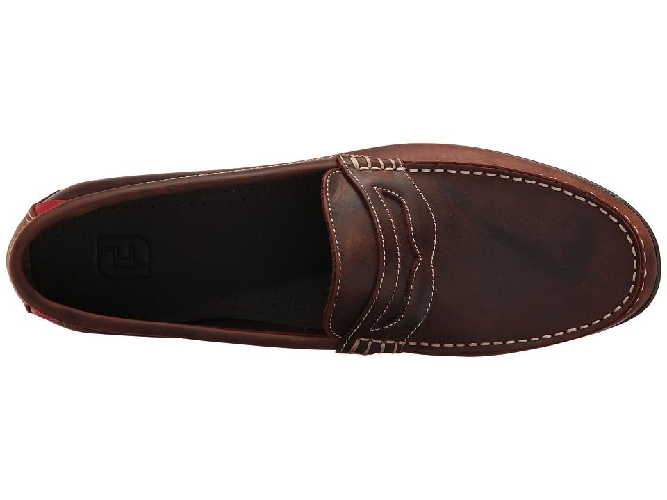 0cd11dcc885 Footjoy club casuals handswen penny loafer mens golf shoes bomber brown jpg  960x720 Footjoy club casual