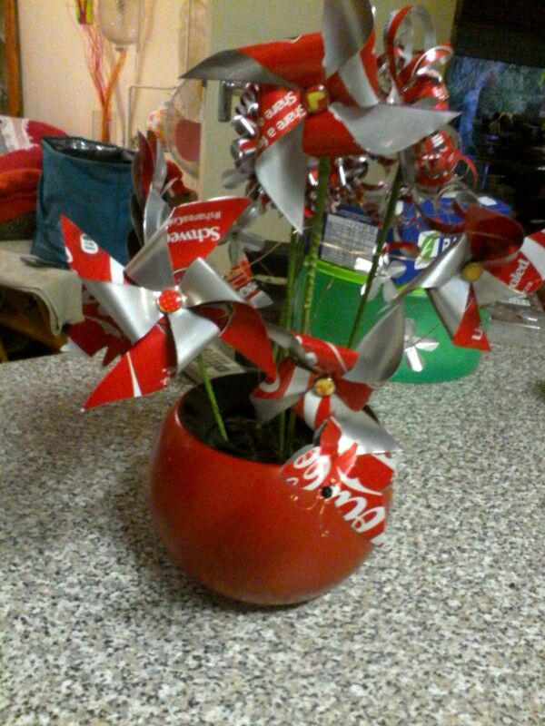 Coke Can Flower arrangement