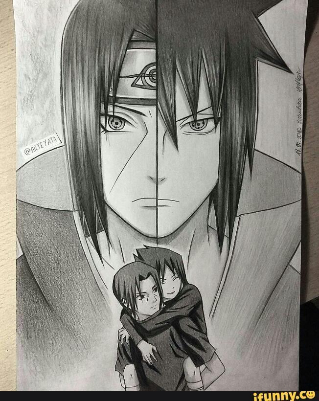 Itachi And Sasuke Drawing Naruto Drawings Naruto Sketch Naruto