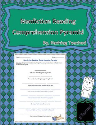 Nonfiction Reading Comprehension Pyramid Template from - pyramid template
