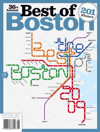 2009 Nyc Subway Map.Boston Magazine Best Of Boston 2009 Subway Map Cover Bostonography