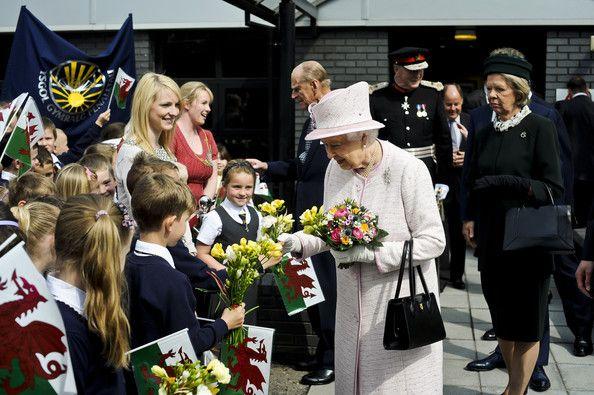 Queen Elizabeth II Photos Photos: Queen Elizabeth II Visits Wales #visitwales