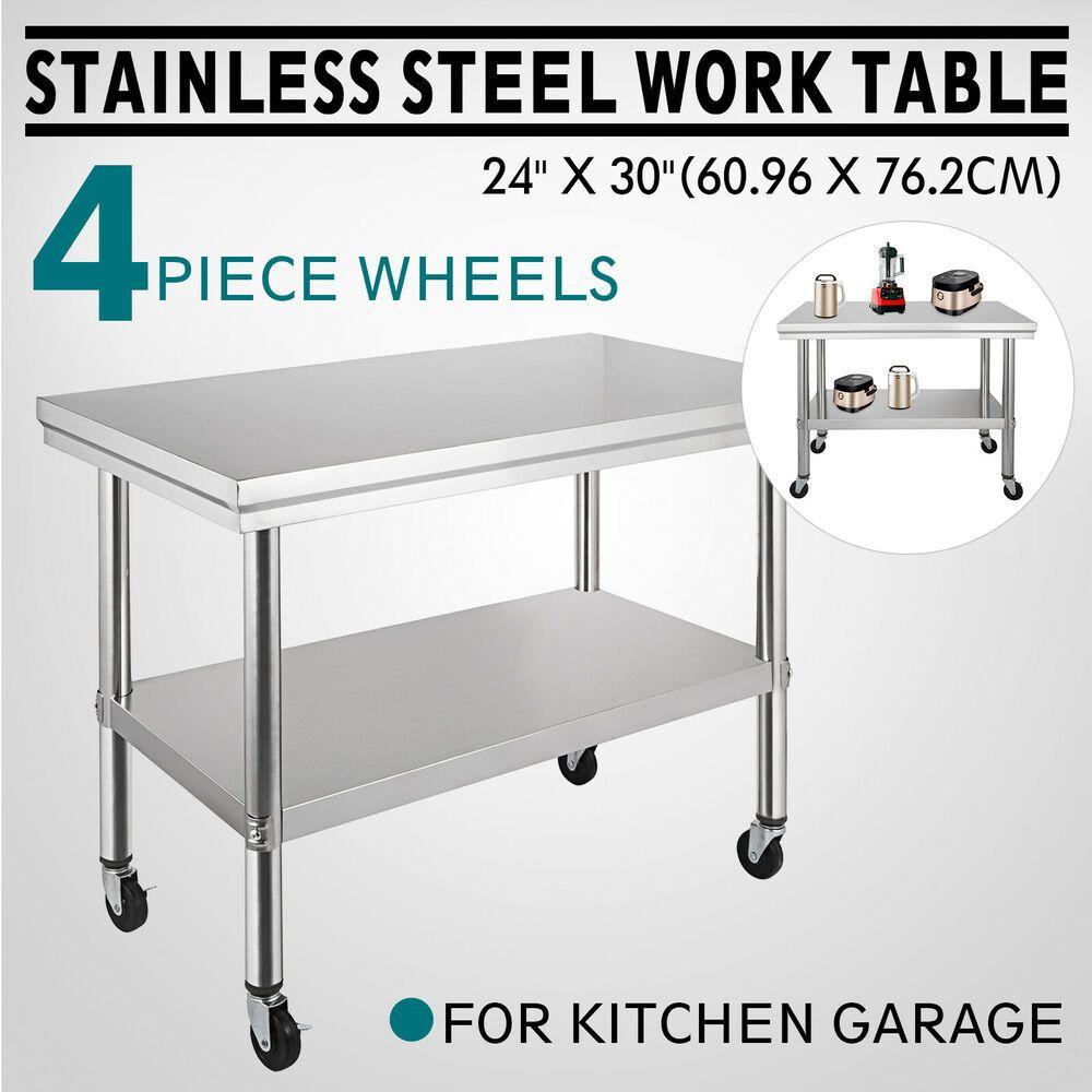 Ebay Sponsored New Stainless Steel Commercial Kitchen Work Prep Equipment Table Stan Stainless Steel Work Table Kitchen Work Tables Stainless Steel Prep Table