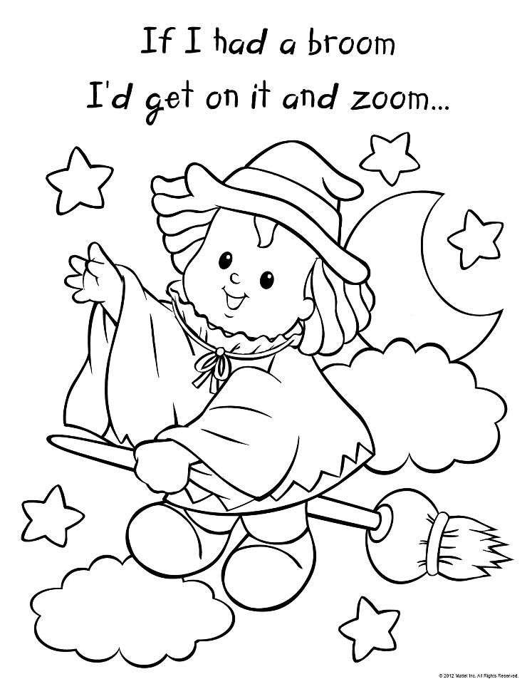 Fisher Price Coloring Pages : fisher, price, coloring, pages, Little, People, Halloween, Color, Card,, Coloring, Pictures,, Pages
